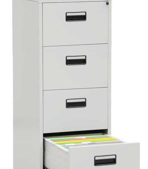 metal-four-drawer-filing-cabinet