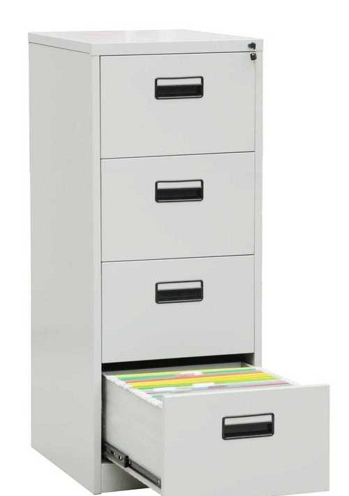metal-four-drawer-filing-cabinet