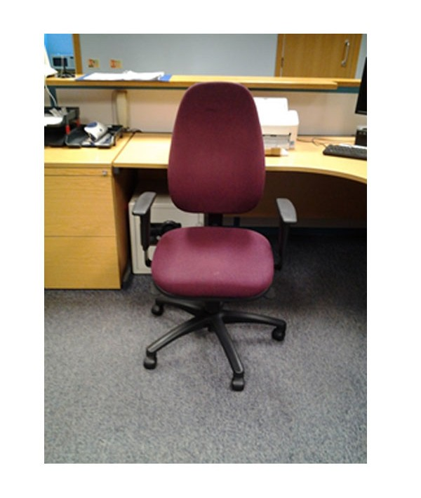 high backed deep red office chair edinburgh recycle edinburgh
