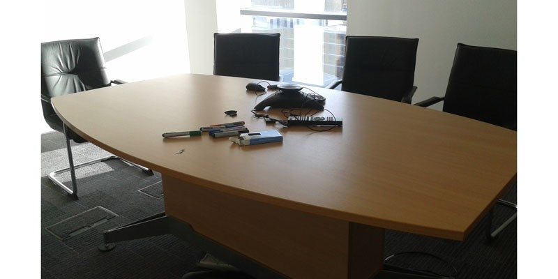 beech meeting room table