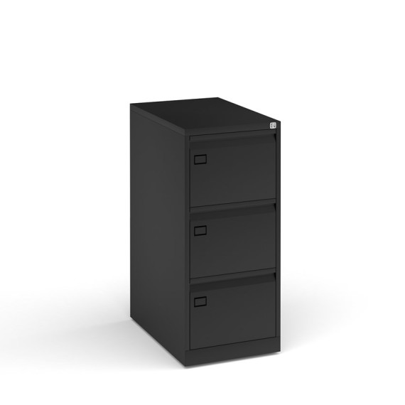 3 drawer, black